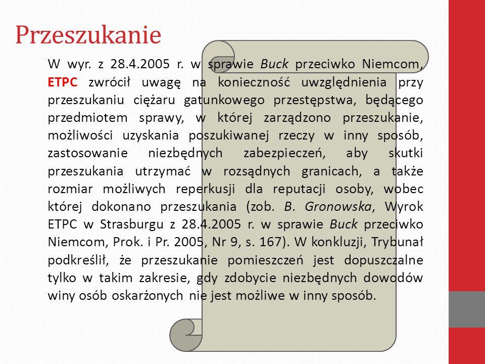 Przeszukanie W wyr. z 28.4.2005 r.
