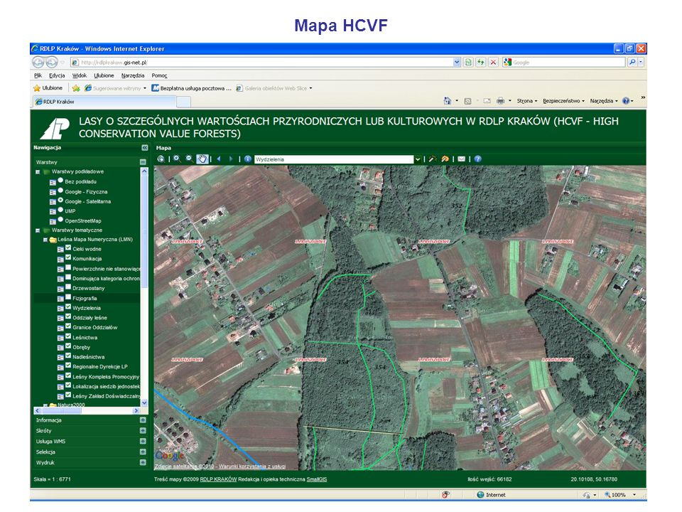 Mapa HCVF