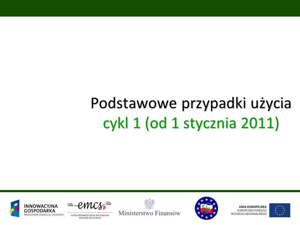 Podstawowe przypadki użycia cykl 1 (od 1 stycznia 2011)