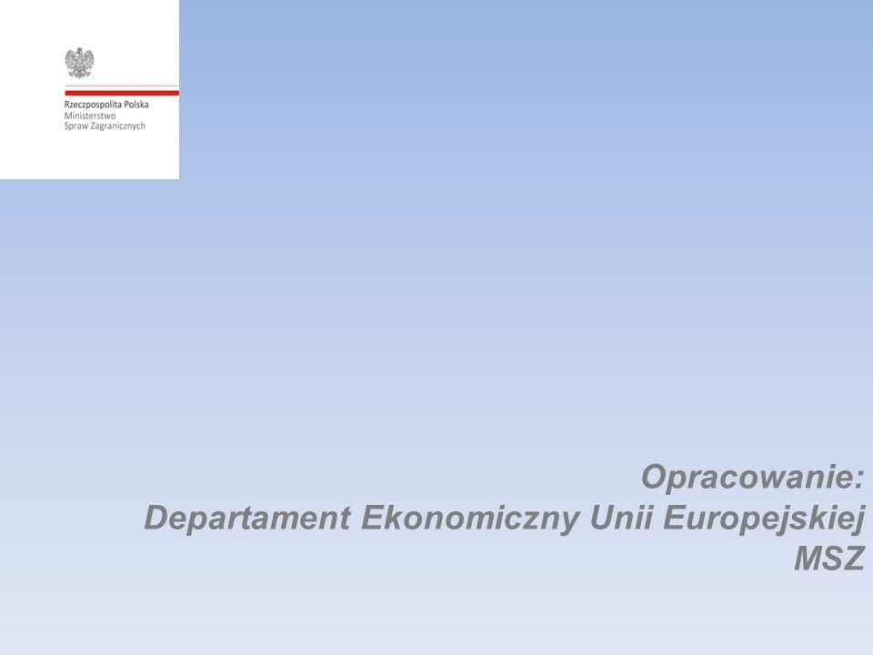 Opracowanie: Departament Ekonomiczny Unii Europejskiej MSZ