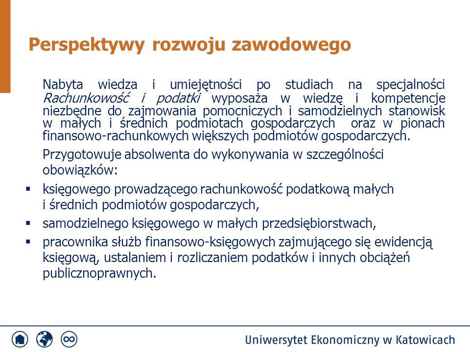 Nabyta wiedza i umiejętności po studiach na specjalności Rachunkowość i podatki wyposaża w wiedzę i kompetencje niezbędne do zajmowania pomocniczych i