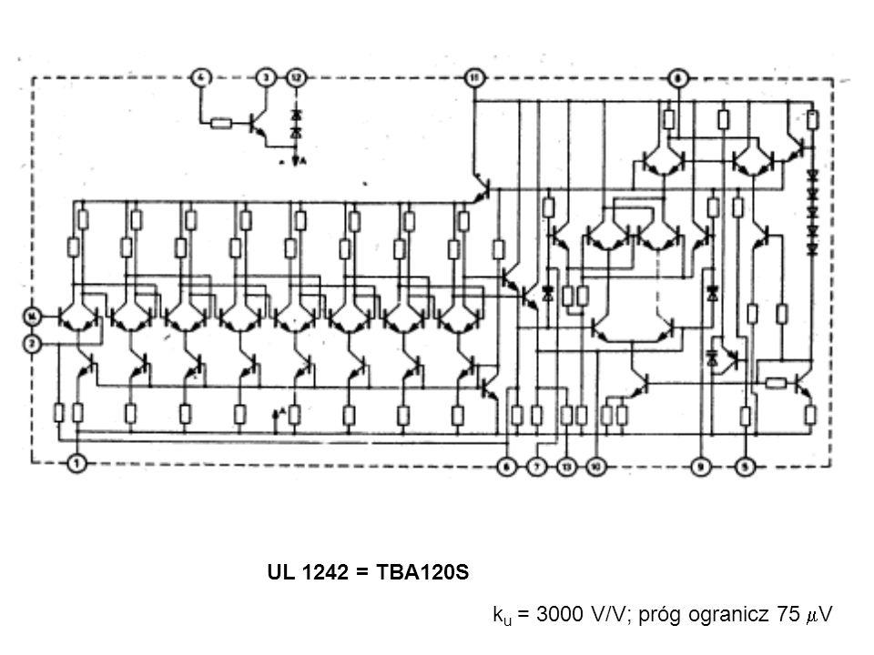 UL 1242 = TBA120S k u = 3000 V/V; próg ogranicz 75  V