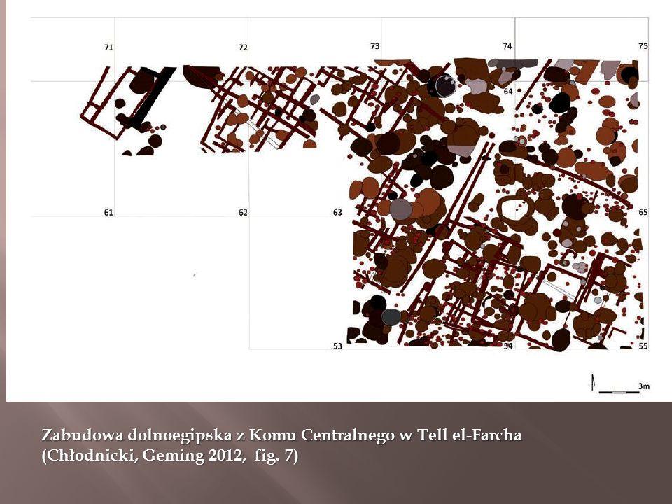Zabudowa dolnoegipska z Komu Centralnego w Tell el-Farcha (Chłodnicki, Geming 2012, fig. 7)