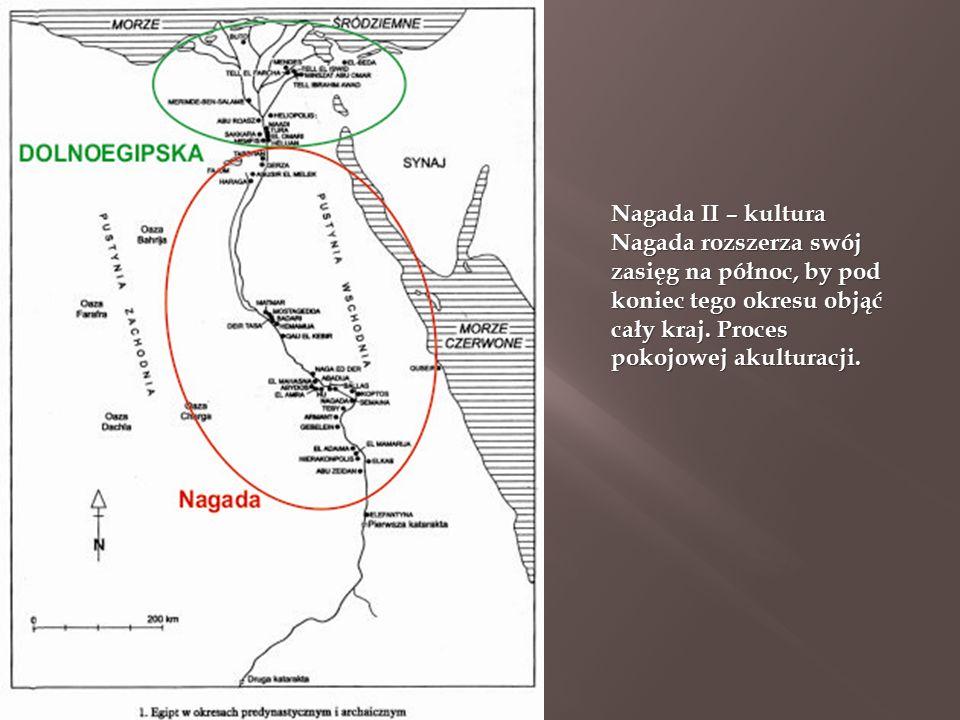 Nagada II – kultura Nagada rozszerza swój zasięg na północ, by pod koniec tego okresu objąć cały kraj.