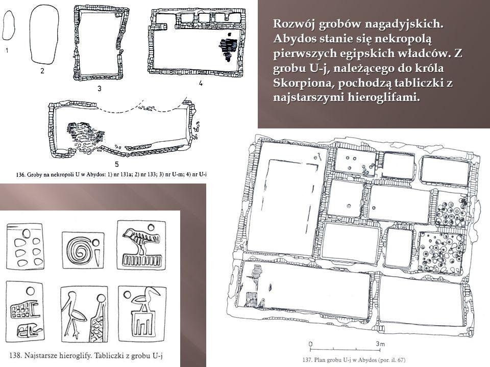 Rozwój grobów nagadyjskich. Abydos stanie się nekropolą pierwszych egipskich władców.
