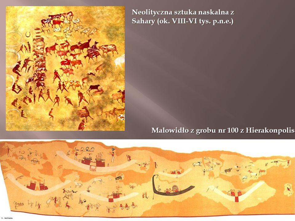 Neolityczna sztuka naskalna z Sahary (ok. VIII-VI tys.
