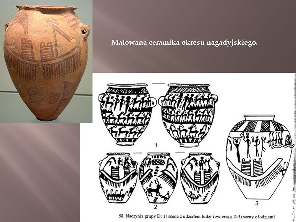 Malowana ceramika okresu nagadyjskiego.