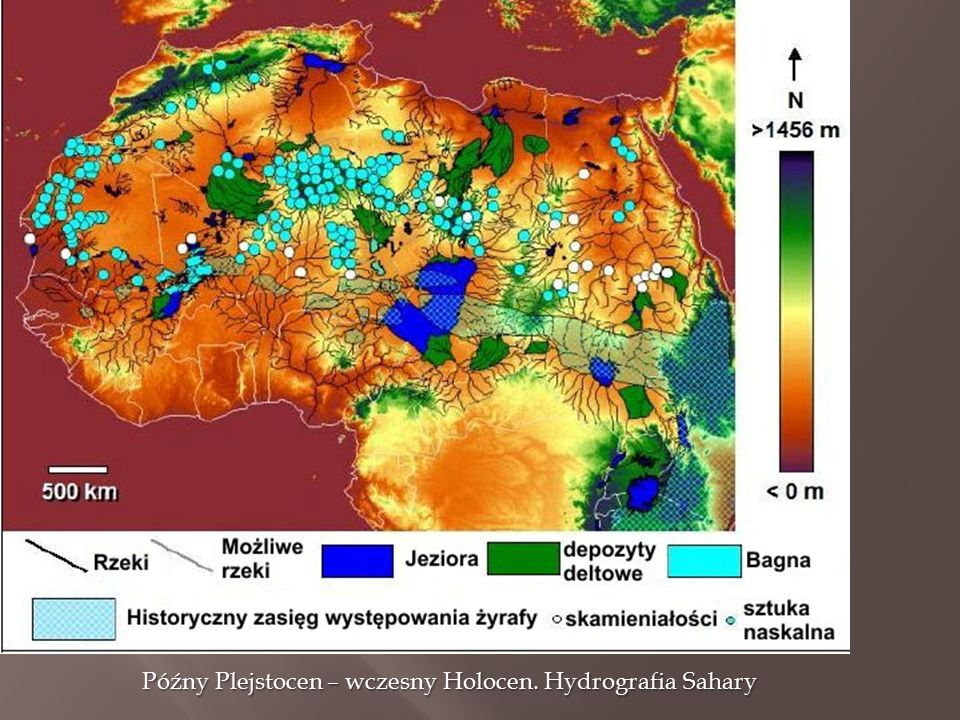 Późny Plejstocen – wczesny Holocen. Hydrografia Sahary