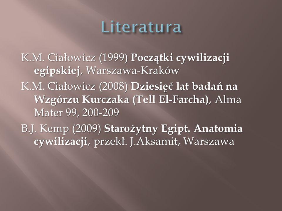 K.M. Ciałowicz (1999) Początki cywilizacji egipskiej, Warszawa-Kraków K.M.