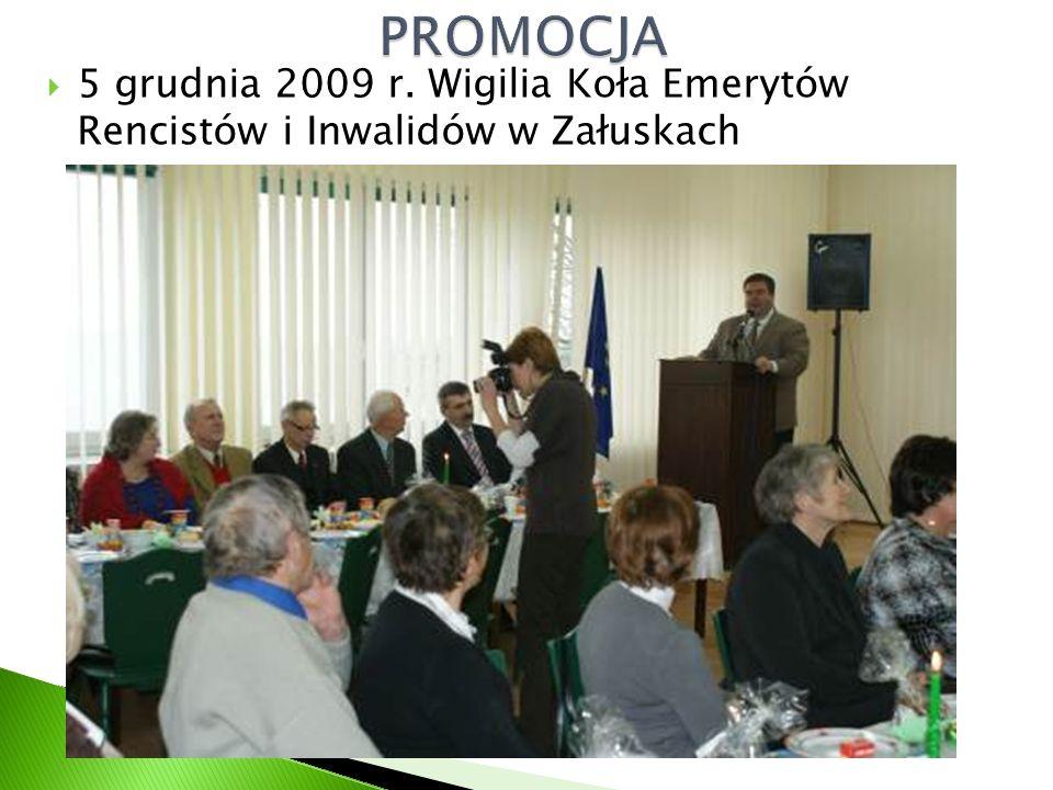 5 grudnia 2009 r. Wigilia Koła Emerytów Rencistów i Inwalidów w Załuskach