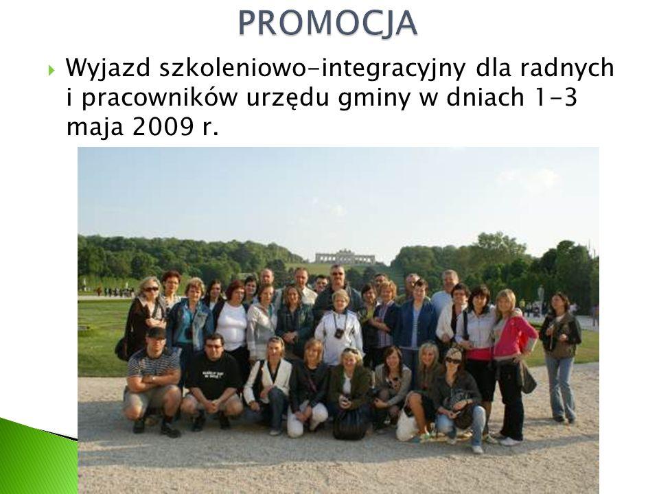  Wyjazd szkoleniowo-integracyjny dla radnych i pracowników urzędu gminy w dniach 1-3 maja 2009 r.