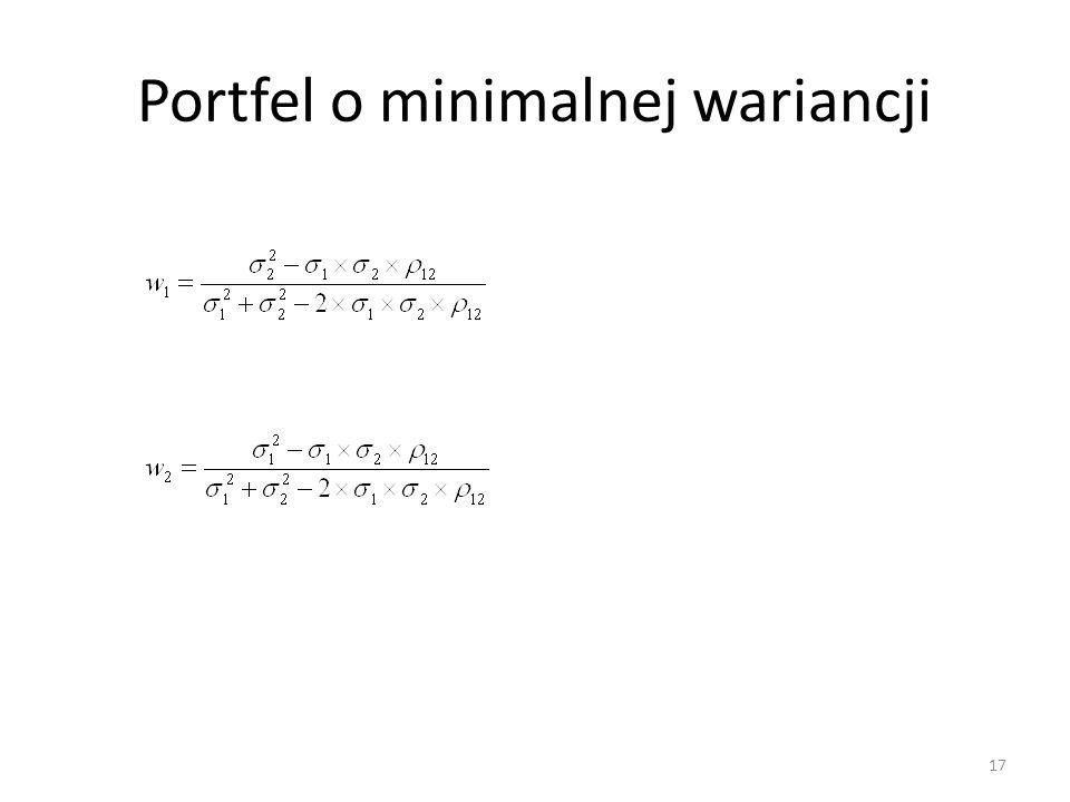 Portfel o minimalnej wariancji 17