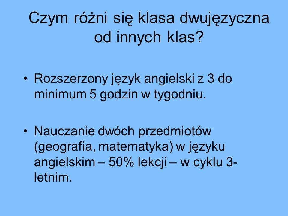 Gimnazjum im.Jana Pawła II z oddziałami dwujęzycznymi – c.d.