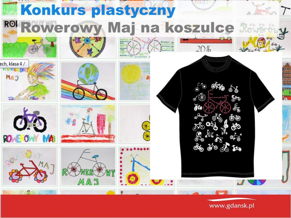 Konkurs plastyczny Rowerowy Maj na koszulce