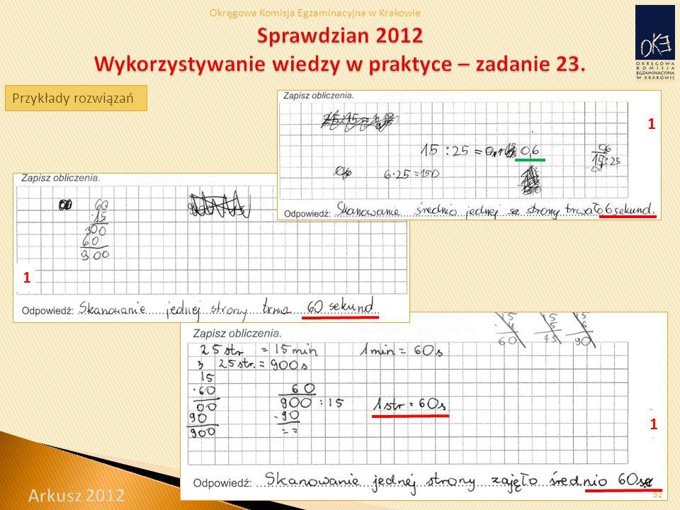 Okręgowa Komisja Egzaminacyjna w Krakowie 1 1 52 Przykłady rozwiązań 1