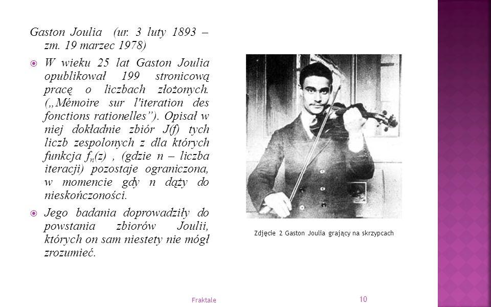 """Gaston Joulia (ur. 3 luty 1893 – zm. 19 marzec 1978)  W wieku 25 lat Gaston Joulia opublikował 199 stronicową pracę o liczbach złożonych. (""""Mémoire s"""
