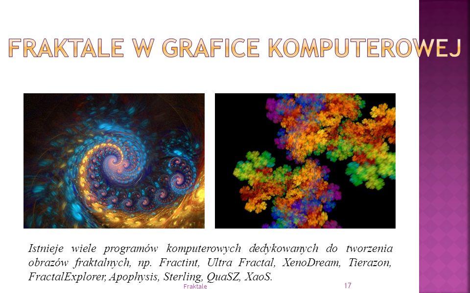 Istnieje wiele programów komputerowych dedykowanych do tworzenia obrazów fraktalnych, np. Fractint, Ultra Fractal, XenoDream, Tierazon, FractalExplore