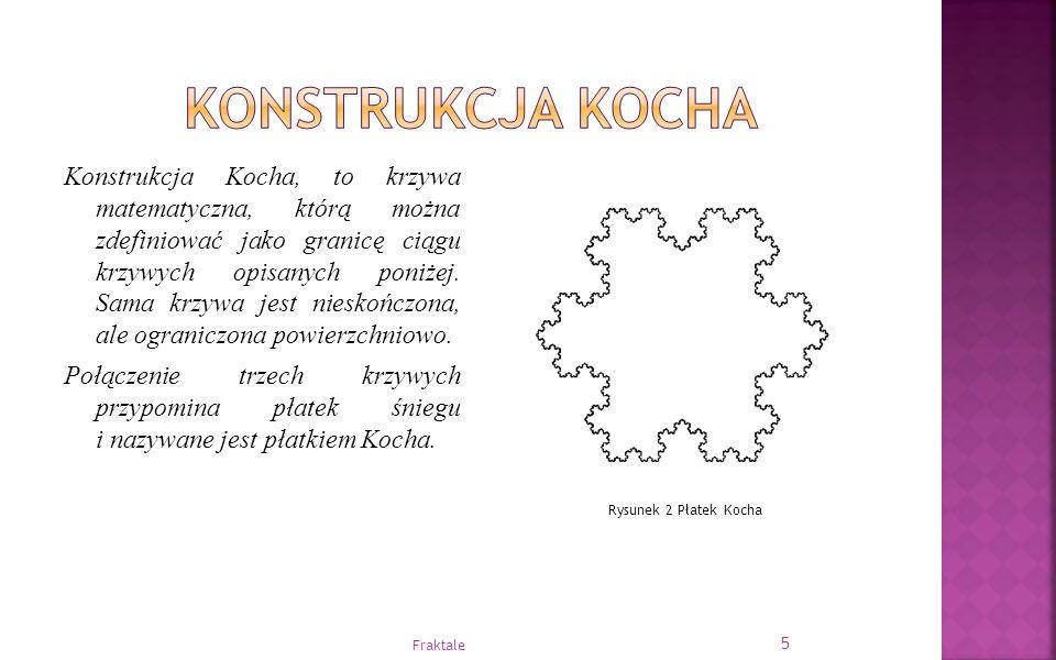Konstrukcja Kocha, to krzywa matematyczna, którą można zdefiniować jako granicę ciągu krzywych opisanych poniżej. Sama krzywa jest nieskończona, ale o