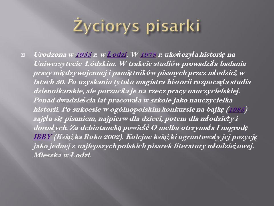  Urodzona w 1955 r. w Ł odzi. W 1978 r. uko ń czy ł a histori ę na Uniwersytecie Ł ódzkim.