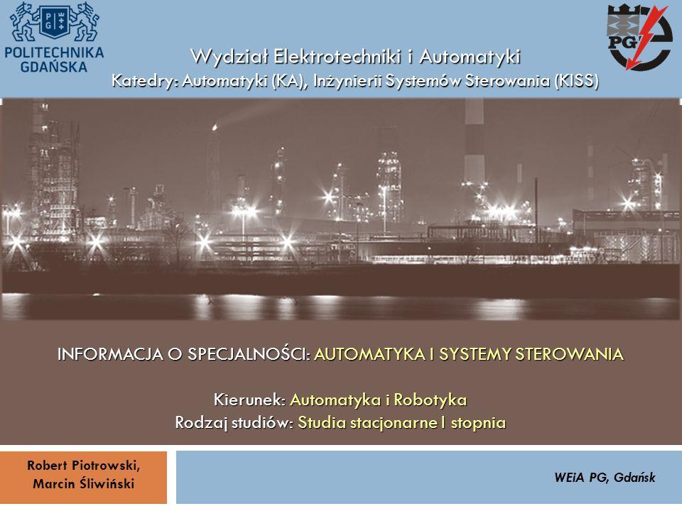 Zrealizowane projekty inżynierskie - przykłady (13/15) 32 ZARZĄDZANIE BEZPIECZEŃSTWEM FUNKCJONALNYM IV SOPOT, 15-16 V 2013ZBF IV ProSIL-EALSEMINARIUM W RAMACH PROJEKTU VI.B.10 GDAŃSK, 21 XI 2013 KA i KISSINFORMACJA O SPECJALNOŚCI: AUTOMATYKA I SYSTEMY STEROWANIA Temat pracy inżynierskiej: Projekt techniczny i budowa dwukołowego balansującego pojazdu mobilnego Promotor: Robert Piotrowski, dr inż.