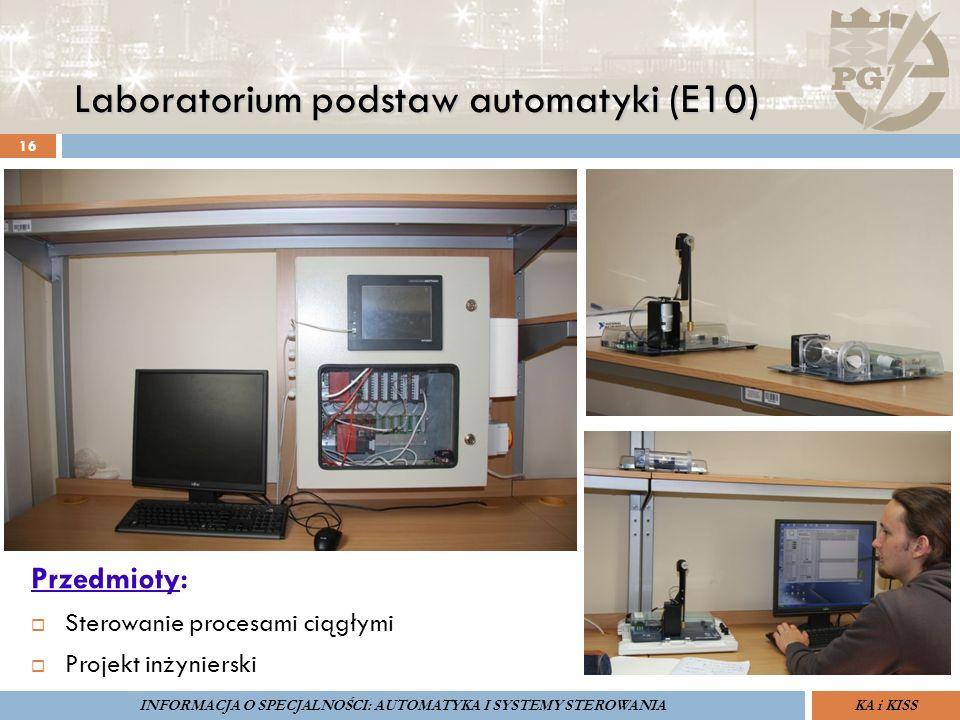 Laboratorium podstaw automatyki (E10) 16 Przedmioty:  Sterowanie procesami ciągłymi  Projekt inżynierski ZARZĄDZANIE BEZPIECZEŃSTWEM FUNKCJONALNYM I