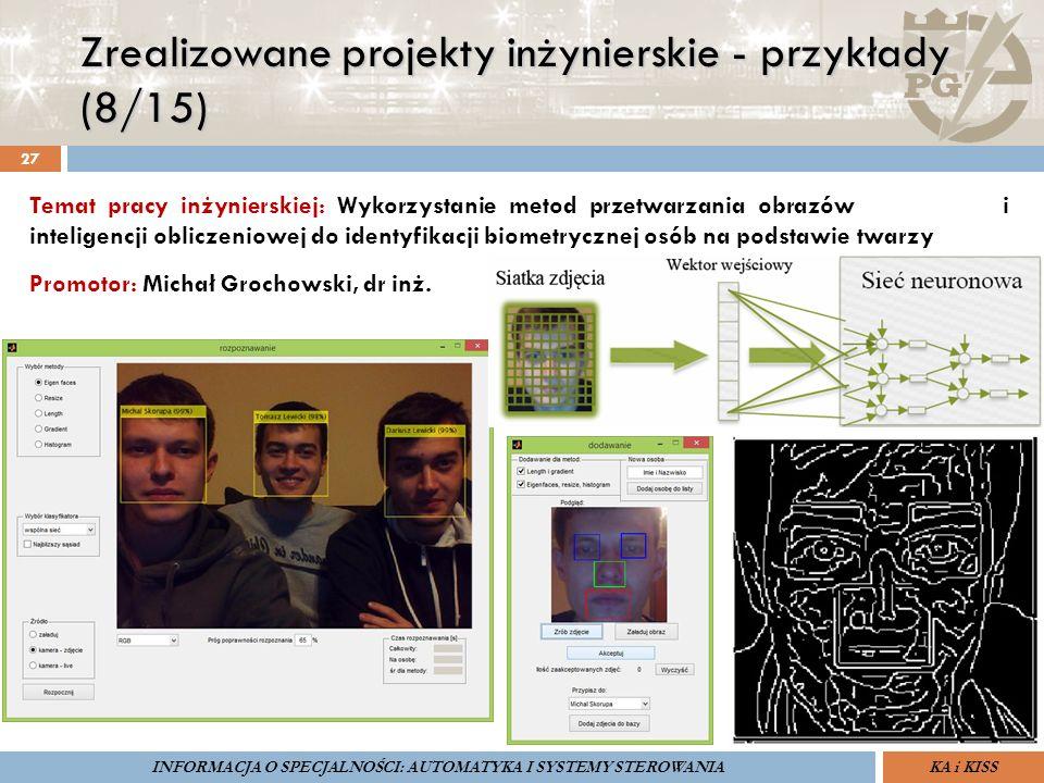 Zrealizowane projekty inżynierskie - przykłady (8/15) 27 ZARZĄDZANIE BEZPIECZEŃSTWEM FUNKCJONALNYM IV SOPOT, 15-16 V 2013ZBF IV ProSIL-EALSEMINARIUM W