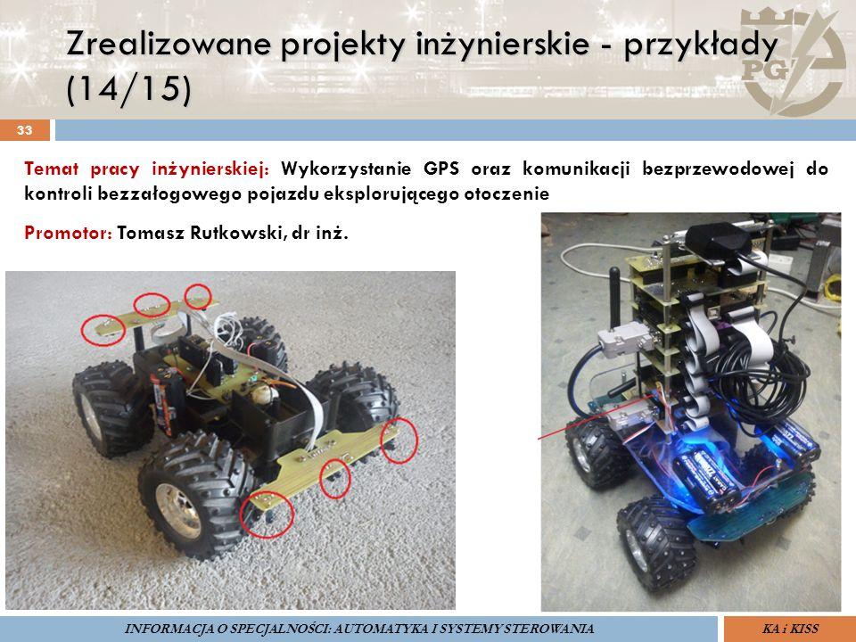Zrealizowane projekty inżynierskie - przykłady (14/15) 33 ZARZĄDZANIE BEZPIECZEŃSTWEM FUNKCJONALNYM IV SOPOT, 15-16 V 2013ZBF IV ProSIL-EALSEMINARIUM
