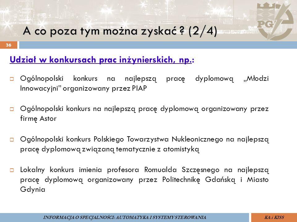 """A co poza tym można zyskać ? (2/4) 36 Udział w konkursach prac inżynierskich, np.:  Ogólnopolski konkurs na najlepszą pracę dyplomową """"Młodzi Innowac"""