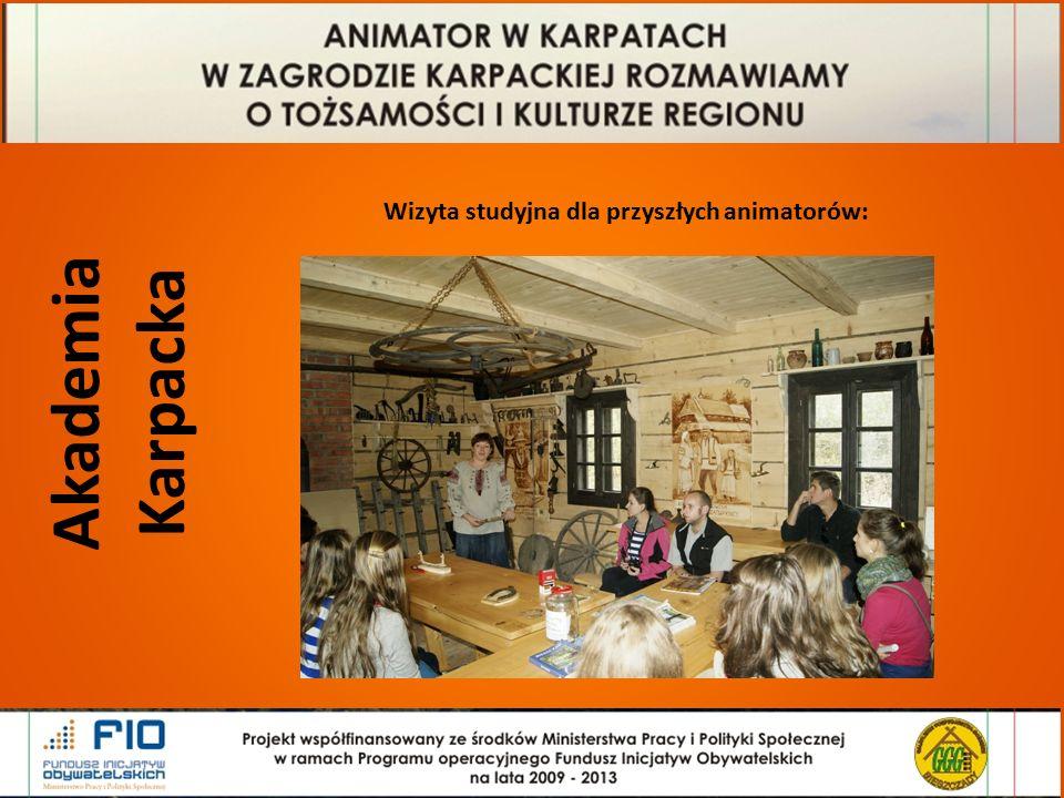 Akademia Karpacka Wizyta studyjna dla przyszłych animatorów: