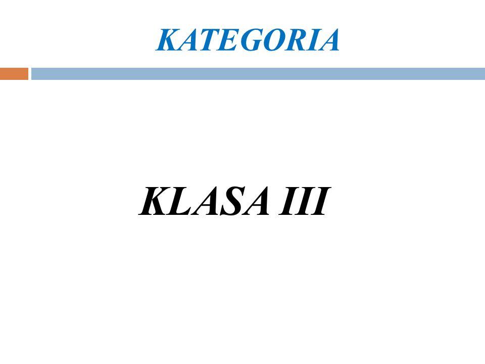 KATEGORIA KLASA III
