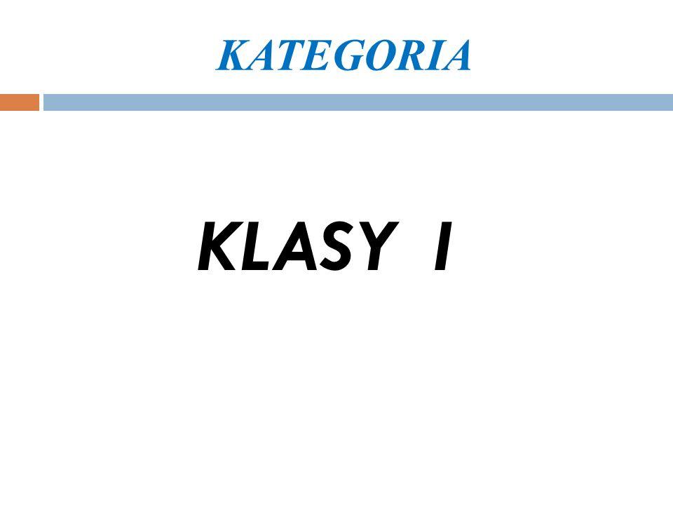 KATEGORIA KLASY I