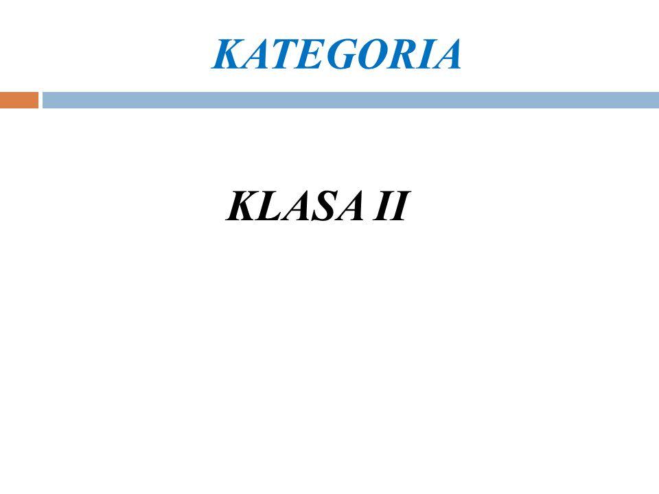 KATEGORIA KLASA II