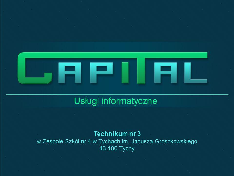 Usługi informatyczne Technikum nr 3 w Zespole Szkół nr 4 w Tychach im.