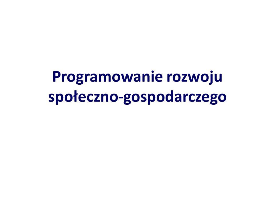 Programowanie rozwoju społeczno-gospodarczego