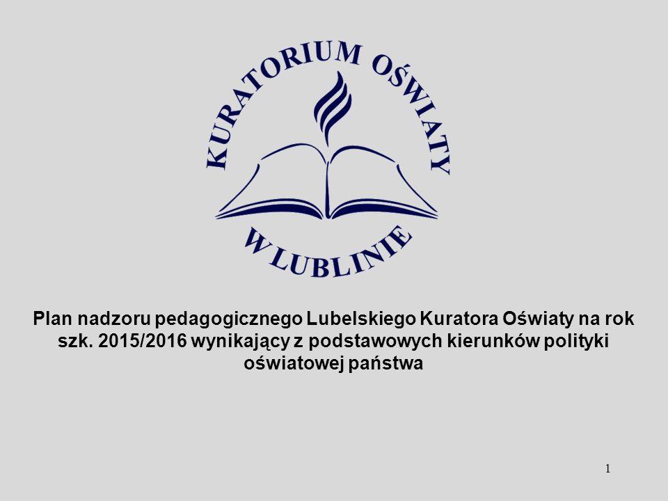 1 Plan nadzoru pedagogicznego Lubelskiego Kuratora Oświaty na rok szk. 2015/2016 wynikający z podstawowych kierunków polityki oświatowej państwa