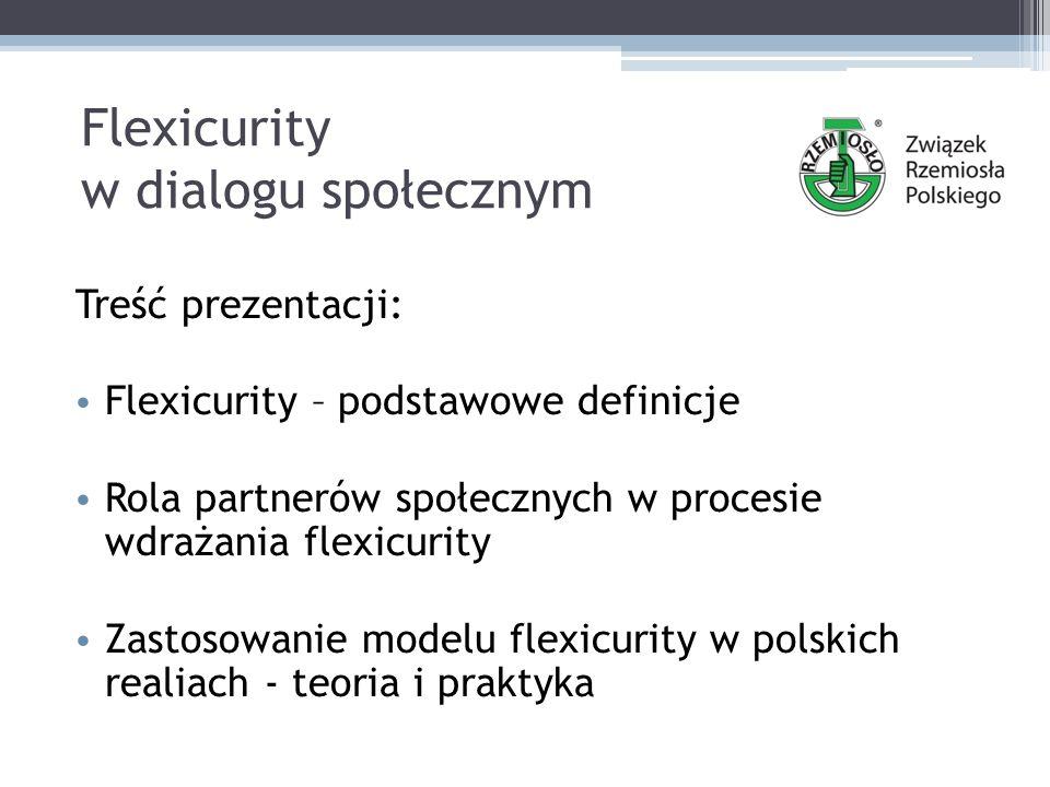 Flexicurity w dialogu społecznym Treść prezentacji: Flexicurity – podstawowe definicje Rola partnerów społecznych w procesie wdrażania flexicurity Zastosowanie modelu flexicurity w polskich realiach - teoria i praktyka