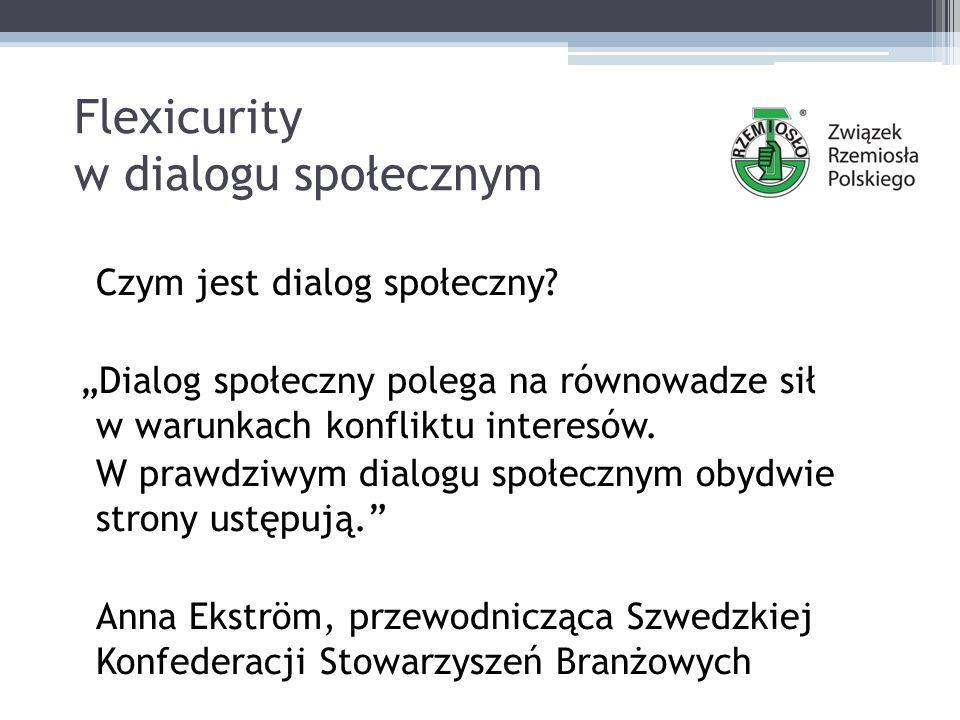 Flexicurity w dialogu społecznym Cztery filary flexicurity (c.d.) 3.