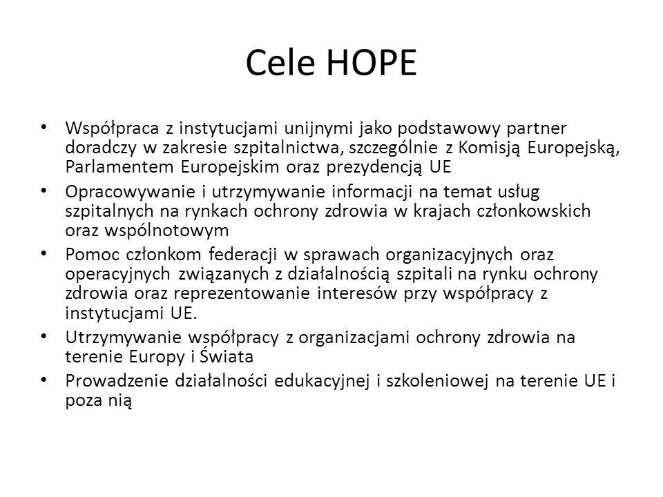 Dlaczego do HOPE .