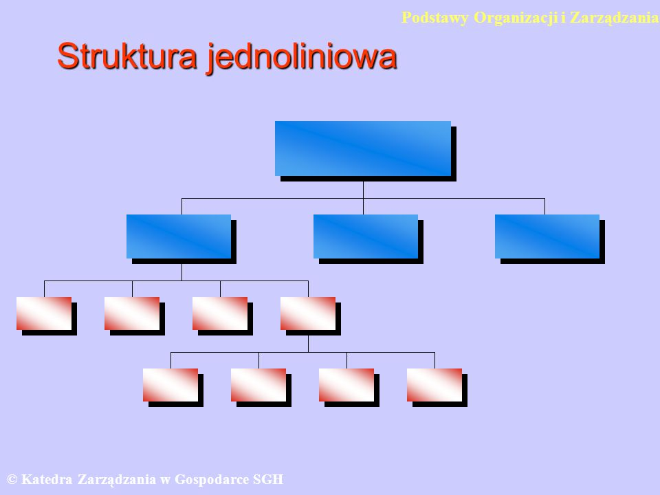 Struktura jednoliniowa © Katedra Zarządzania w Gospodarce SGH Podstawy Organizacji i Zarządzania
