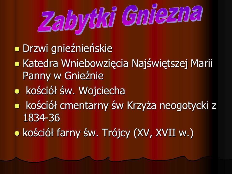 Drzwi gnieźnieńskie Drzwi Gnieźnieńskie to jeden z najważniejszych zabytków sztuki romańskiej w Europie.