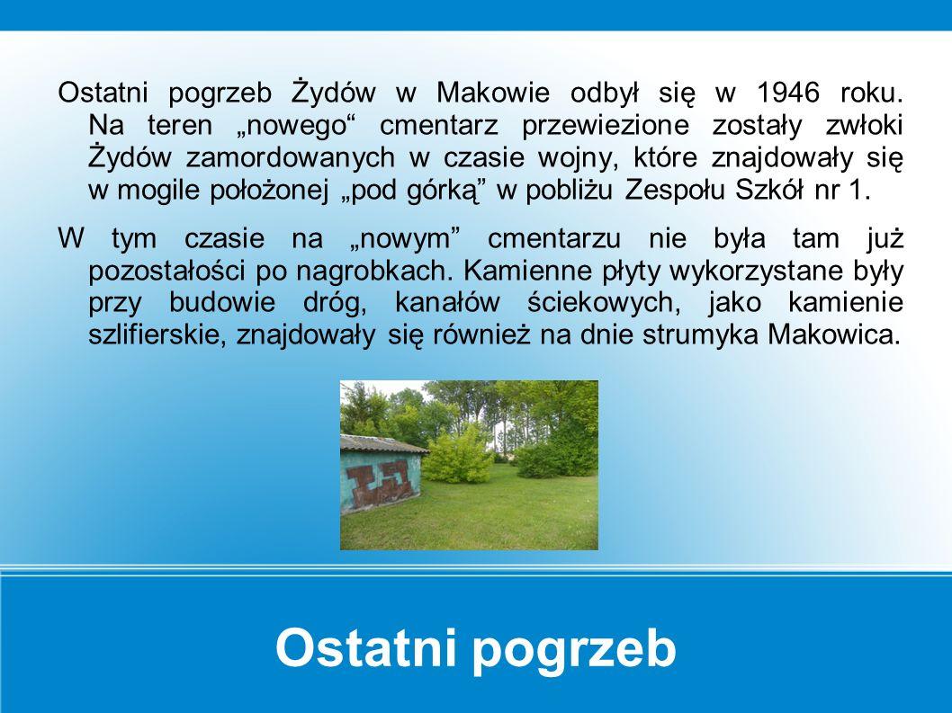 Makowskie cmentarze Za hurtownią Damian wzdłuż ul.