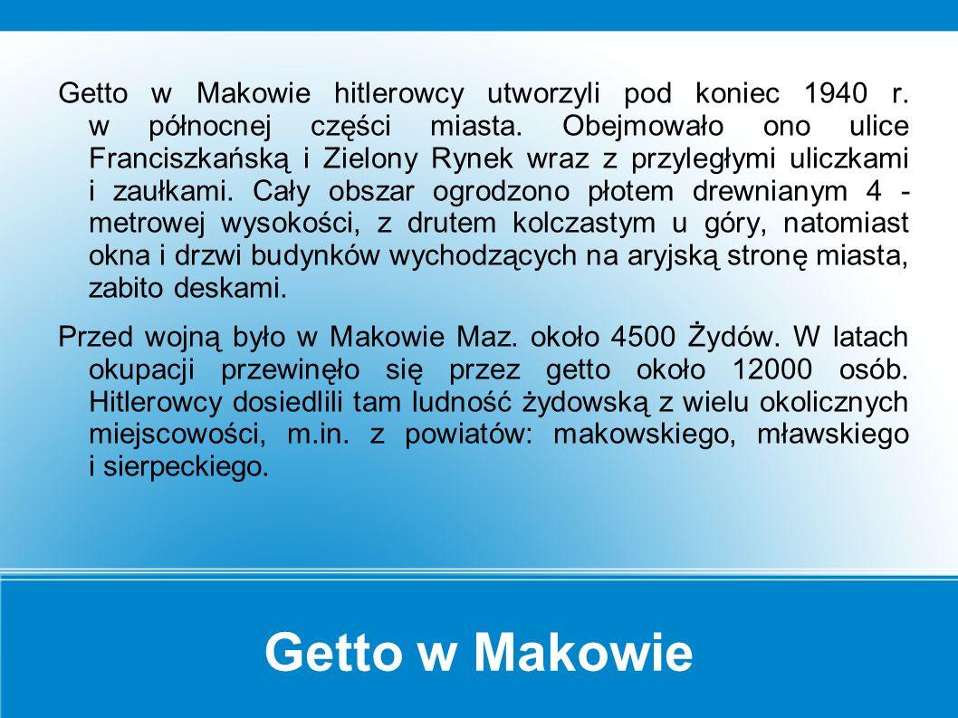 Jedno miasto – dwie kultury Historia przedwojennego Makowa Mazowieckiego to w dużej mierze historia Żydów zamieszkujących to miasto.