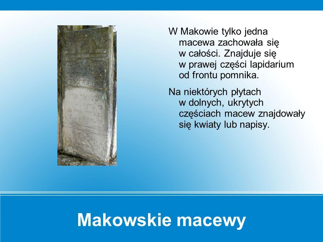 Macewy Macewa składa się z trzech części - dolna - zakryta i górka owalna z motywem graficznym.