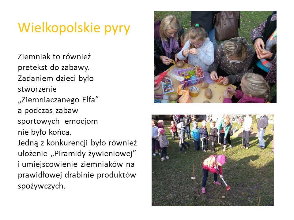 """Wielkopolskie pyry Ziemniak to również pretekst do zabawy. Zadaniem dzieci było stworzenie """"Ziemniaczanego Elfa"""" a podczas zabaw sportowych emocjom ni"""