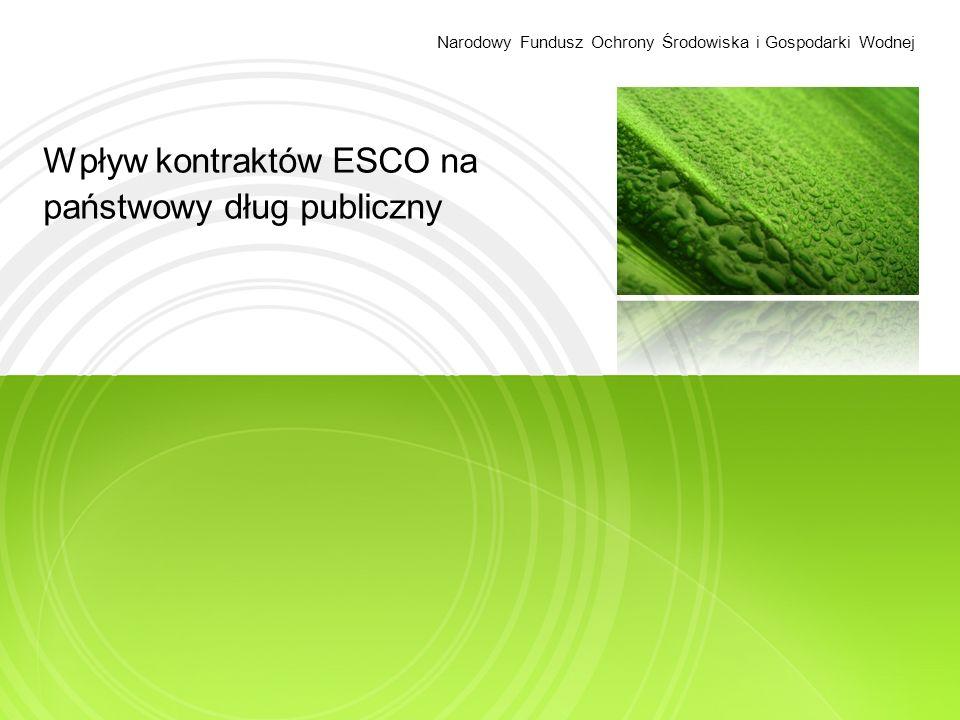 Wpływ kontraktów ESCO na państwowy dług publiczny Narodowy Fundusz Ochrony Środowiska i Gospodarki Wodnej