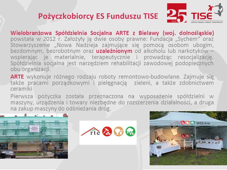 Pożyczkobiorcy ES Funduszu TISE Wielobranżowa Spółdzielnia Socjalna ARTE z Bielawy (woj.