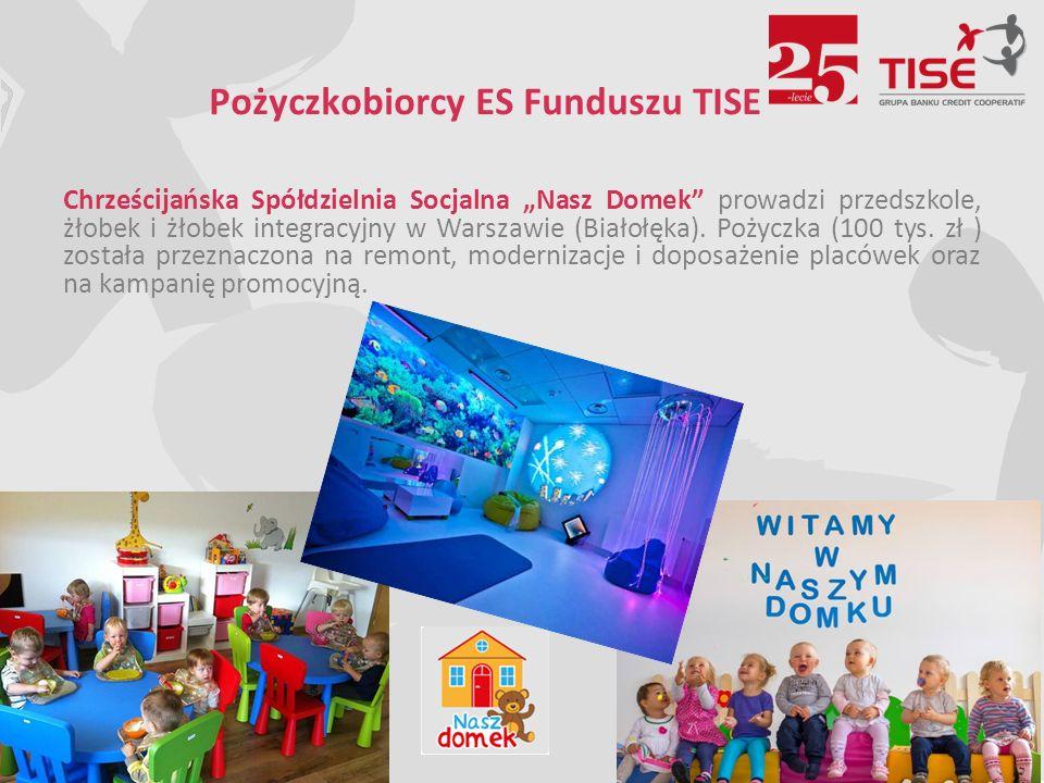 """Pożyczkobiorcy ES Funduszu TISE Chrześcijańska Spółdzielnia Socjalna """"Nasz Domek prowadzi przedszkole, żłobek i żłobek integracyjny w Warszawie (Białołęka)."""