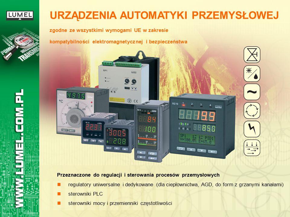 Przeznaczone do regulacji i sterowania procesów przemysłowych regulatory uniwersalne i dedykowane (dla ciepłownictwa, AGD, do form z grzanymi kanałami) sterowniki PLC sterowniki mocy i przemienniki częstotliwości URZĄDZENIA AUTOMATYKI PRZEMYSŁOWEJ zgodne ze wszystkimi wymogami UE w zakresie kompatybilności elektromagnetycznej i bezpieczeństwa