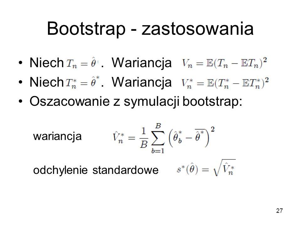 27 Bootstrap - zastosowania Niech.