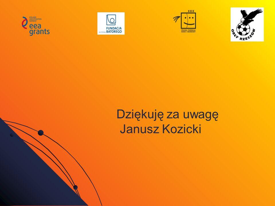 Dziękuję za uwagę Janusz Kozicki